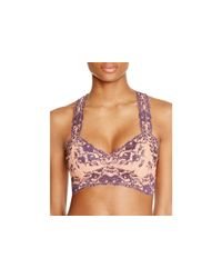 Free People - Natural Gallon Lace Racerback Bra - Lyst