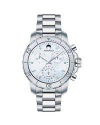 Movado - Metallic 'series 800' Diamond Index Chronograph Bracelet Watch - Lyst