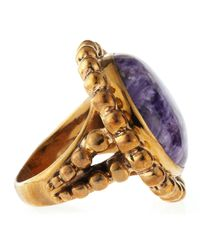 Stephen Dweck | Metallic Charoite Bead Ring | Lyst
