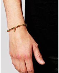 Mister - Metallic Beaded Bracelet for Men - Lyst