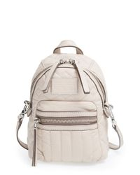 Marc By Marc Jacobs Natural 'domo Biker' Quilted Leather Crossbody Bag