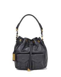 Badgley Mischka | Black Leia Soft Pebble Handbag | Lyst