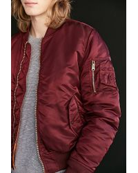 Alpha Industries - Purple X Uo Slim-fit Ma-1 Bomber Jacket for Men - Lyst