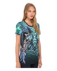 Just Cavalli | Black Printed T-shirt | Lyst