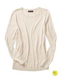 Banana Republic | Natural Factory Textured Crew-neck Sweater | Lyst