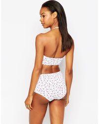 South Beach - Multicolor Flamingo Print Bikini Bottoms - Lyst