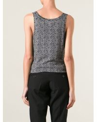 MICHAEL Michael Kors - Black Herringbone Pattern Vest - Lyst