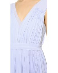 Rebecca Taylor Poly Pleated Gown - Icy Blue