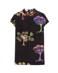 Stella McCartney Black Printed Crepe Top