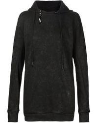 Boris Bidjan Saberi 11 - Black Removable Hood Pullover Hoodie for Men - Lyst