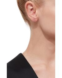 EF Collection - Metallic Gold Diamond Bezel Diamond Ear Jackets - Lyst