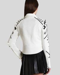 BCBGMAXAZRIA White Bcbg Max Azria Jacket Kade Embroidered
