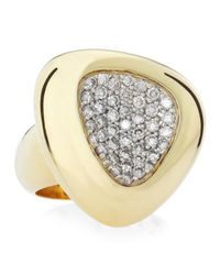 Roberto Coin - Capri Plus Diamond Pave Ring Gray Size 65 - Lyst