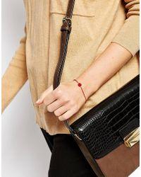 ASOS Metallic Ditzy Rose Bracelet