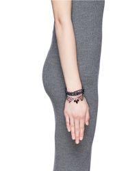 Joomi Lim | Multicolor 'Rebel Romance' Crystal Pearl Bracelet | Lyst