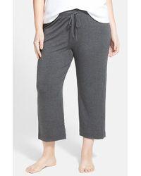 DKNY | Gray 'urban Essentials' Capri Pants | Lyst