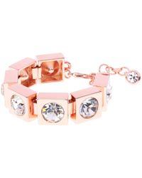 Ted Baker Pink Oleska Square Crystal Bracelet