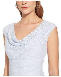 Lauren by Ralph Lauren - Natural Sequined Cowl-Neck Dress - Lyst