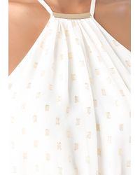 Bebe White Chiffon Halter Dress