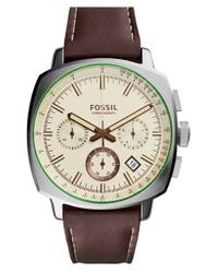Fossil - Brown 'haywood' Chronograph Watch for Men - Lyst