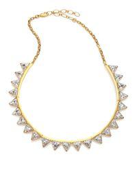 Ca&Lou - Metallic Suki Crystal Bib Necklace for Men - Lyst