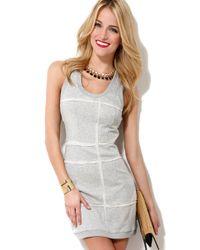 Aryn K. - Gray French Terry Tank Dress - Lyst