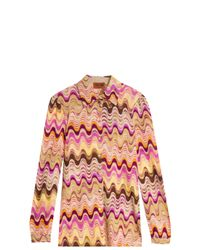 Missoni - Pink Knit Tunic Top With Fringing - Multicolor - Lyst
