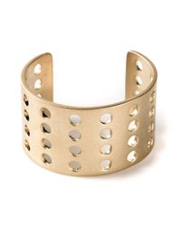 Kelly Wearstler - Metallic Perforated Cuff - Lyst