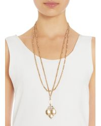 Olivia Collings | Metallic Gold Triple Locket Necklace | Lyst