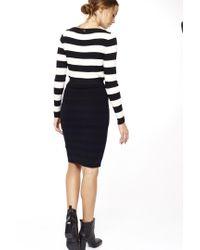 Liu Jo   Blue Striped Longuette Skirt   Lyst