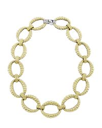 Lagos | Metallic Reversible 18k Gold Sterling Silver Link Necklace | Lyst