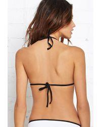 Forever 21 White Neoprene Triangle Bikini Top