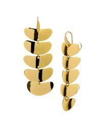 Robert Lee Morris | Metallic Flat Bean Linear Earrings, Assorted Metals | Lyst