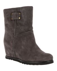 Marc By Marc Jacobs Gray Suede Wedge Boot