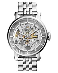 Fossil Metallic 'original Boyfriend' Skeleton Dial Automatic Bracelet Watch