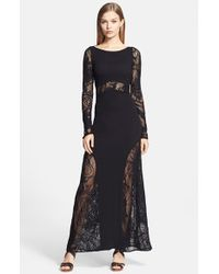 Jean Paul Gaultier - Black Tattoo Lace Flared Tulle Gown - Lyst