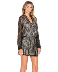 Alice + Olivia - Black Bailey Print Dress - Lyst
