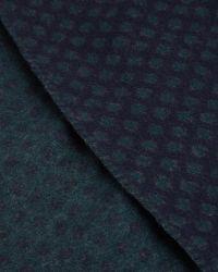 Ted Baker | Blue Reversible Spot Print Scarf for Men | Lyst