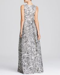 Tory Burch Black Embroidered Doodle Silk Gown