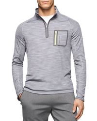 Calvin Klein | Gray Quarter-zip Athletic Pullover for Men | Lyst