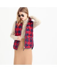 J.Crew | Red Excursion Buffalo Check Vest for Men | Lyst