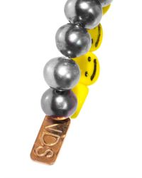 Nektar De Stagni | White Smileyface Pearl Bracelet | Lyst
