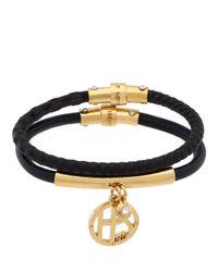 Henri Bendel | Black Double Charm Bracelet Set | Lyst