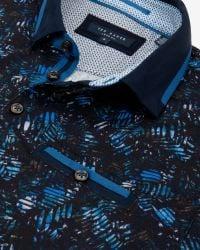Ted Baker | Blue Simorg Tropical Leaf Print Polo Shirt for Men | Lyst