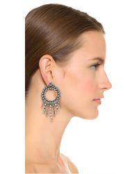 DANNIJO | Metallic Linda Earrings | Lyst