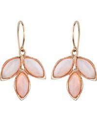 Irene Neuwirth Pink Gemstone Triple Marquise Earrings