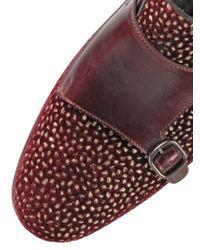 Santoni Embroidered Velvet & Leather Loafers for men