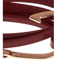 Miansai | Purple Burgundy Hook Leather Wrap Bracelet for Men | Lyst