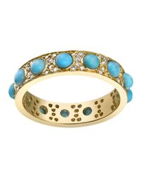 Irene Neuwirth - Blue Turquoise And Diamond Ring - Lyst