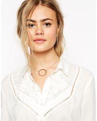 ASOS | Metallic Filigree Open Flower Choker Necklace | Lyst